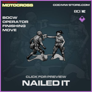 Nailed In Finishing Move in Warzone and Cold War