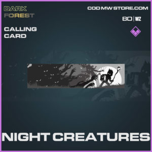Night Creatures calling card in Warzone and Cold War