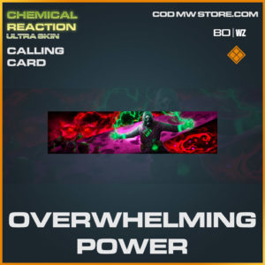 Overwhelming Power calling card in Warzone and Cold War