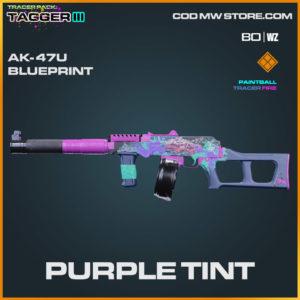 Purple Tint Ak-47u blueprint skin in Warzone and Cold War