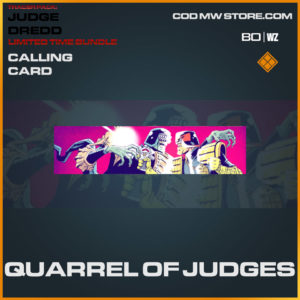 Quarrel of Judges calling card in Warzone and Cold War
