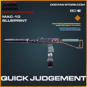 Quick Judgement MAC-10 blueprint skin in Warzone and Cold War