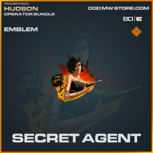 Secret Agent emblem in Warzone and Cold War
