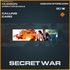 Secret War calling card in Warzone and Cold War