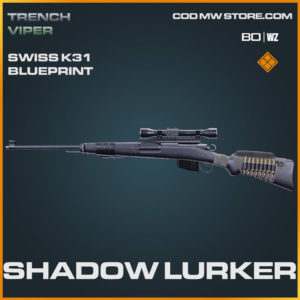 Shadow Lurker Swiss K31 blueprint skin in Warzone and Cold War