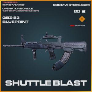 Shuttle Blast QBZ-83 blueprint skin in Warzone and Cold War