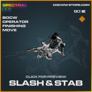 Slash & Stabh operator finishing move in Cold War and Warzone
