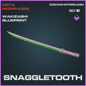 Snaggletooth Wakizashi blueprint skin in Warzone and Cold War