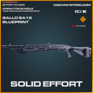 Solid Effort Gallo SA12 blueprint skin in Warzone and Cold War