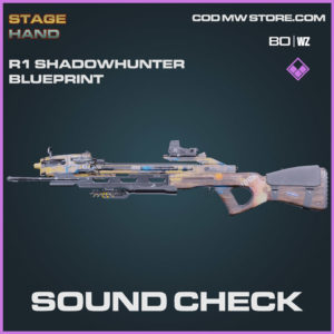 Sound Check R1 Shadowhunter blueprint skin in Warzone and Cold War