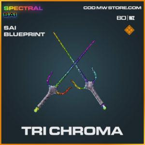 Tri Chroma Sai blueprint skin in Cold War and Warzone