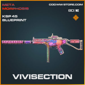 Vivisection KSP 45 blueprint skin in Warzone and Cold War