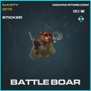 Battle Boar sticker in Warzone and Cold War