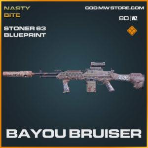 Bayou Bruiser Stoner 63 blueprint skin in Warzone and Cold War