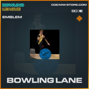 bowling lane legenary emblem in Warzone and Cold War