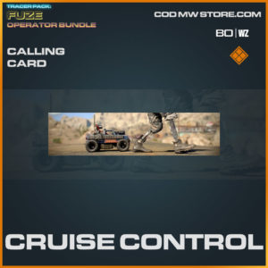 Cruise Control calling card in Warzone and Cold War