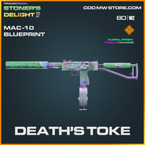 Death's Toke MAC-10 blueprint skin in Warzone and Cold War