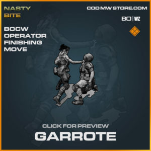 Garrote Finishing Move in Warzone and Cold War
