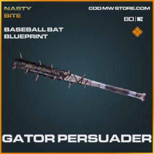 Gator Persuader Baseball Bat blueprint skin in Warzone and Cold War