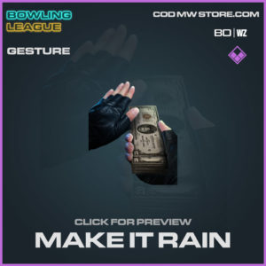 make it rain epic gesture in Warzone and Cold War