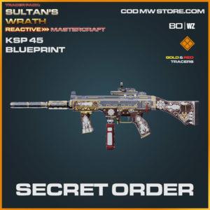 Secret Order KSP 45 blueprint skin in Warzone and Cold War