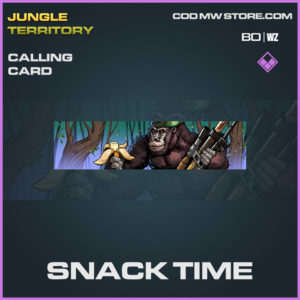 Snack Time calling card in Warzone and Cold War