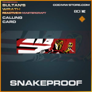 Snakeproof calling card in Warzone and Cold War