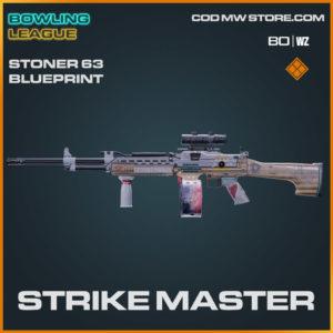 strike master stoner 63 blueprint legendary skin in Warzone and Cold War