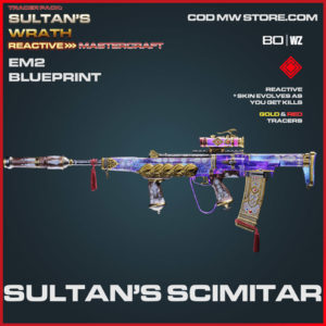 Sultan's Scimitar EM2 blueprint skin in Warzone and Cold War