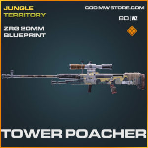 Tower Poacher ZRG 20mm blueprint skin in Warzone and Cold War