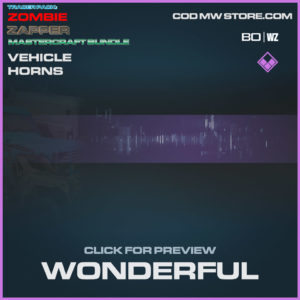 Wonderful Vehicle horns in Warzone and Cold War