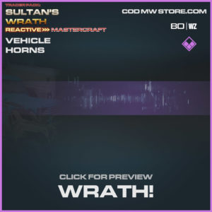 Wrath! vehicle horns in Warzone and Cold War